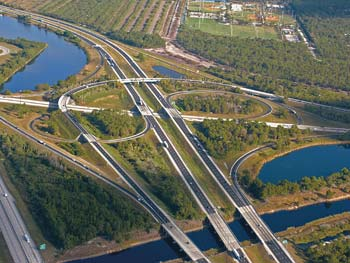Vecellio & Grogan built 13 bridges for the I-95 Interchange at Jupiter, Fla., under a $20 million contract in the 1980s. Years later, Ranger Construction won the contract for resurfacing that leg of the Interstate, including the interchange.