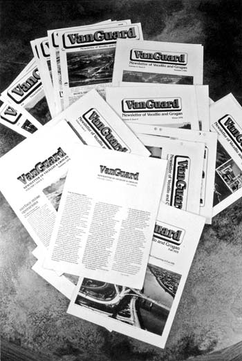 Early issues of the VanGuard newsletter, originally created in the 1970s.