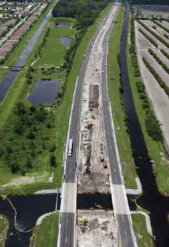 Ranger's Turnpike widening project in Palm Beach County, FL.