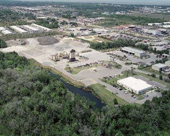 Above: Ranger North's headquarters, asphalt plant and shop in Winter Garden, FL. The division also operates a DeBary plant.