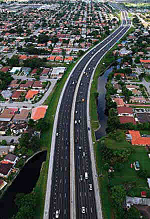 Ranger South recently repaved 1.5 miles of SR-836, also known as the Dolphin Expressway, in Miami-Dade County, FL. (Photo by API)