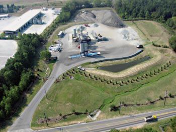 One of Sharpe Bros. three asphalt plants in Greensboro, NC