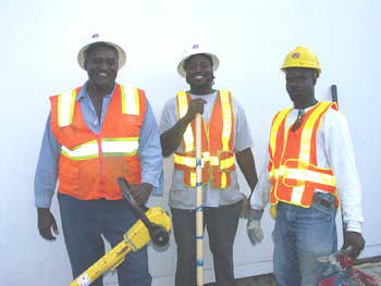Above: Willie Leeks, Corey McNear and Deus DuFrene of Ranger South work at Vecenergy's Port Everglades terminal in Ft. Lauderdale, Fla.