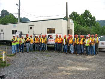 In Virginia City, Va., crews have stayed safe on V&G's site work for a new power plant.