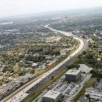 aerial view of Fairbanks Curve on I-4
